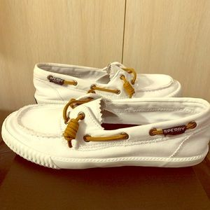 Sperry Sayel Away Washed White Women's 8